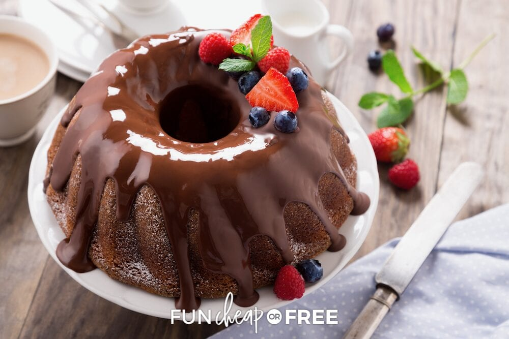 Chocolate bundt cake from Fun Cheap or Free