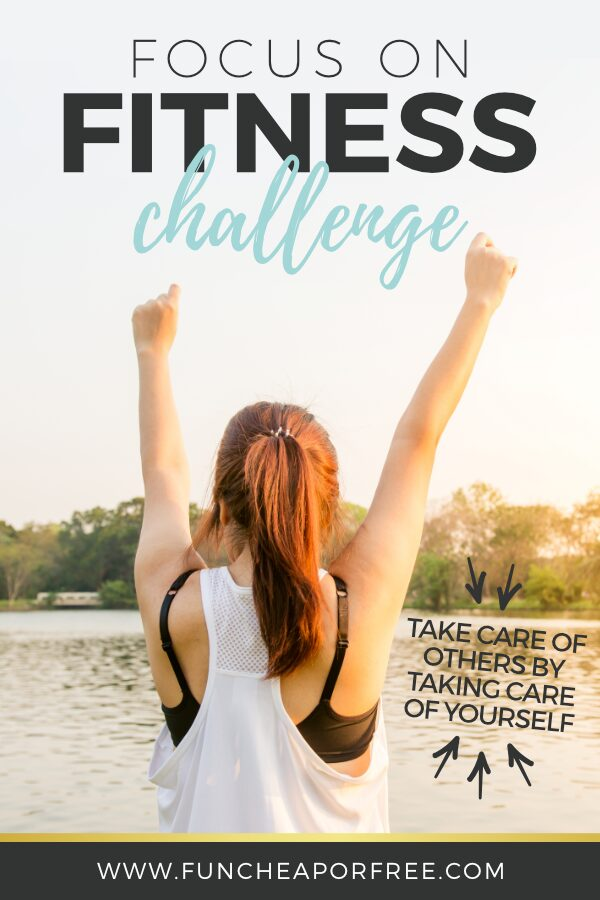 """Image with text that reads """"focus on fitness challenge"""" from Fun Cheap or Free"""