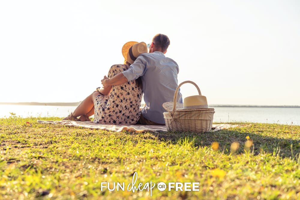Couple having a picnic, from Fun Cheap or Free