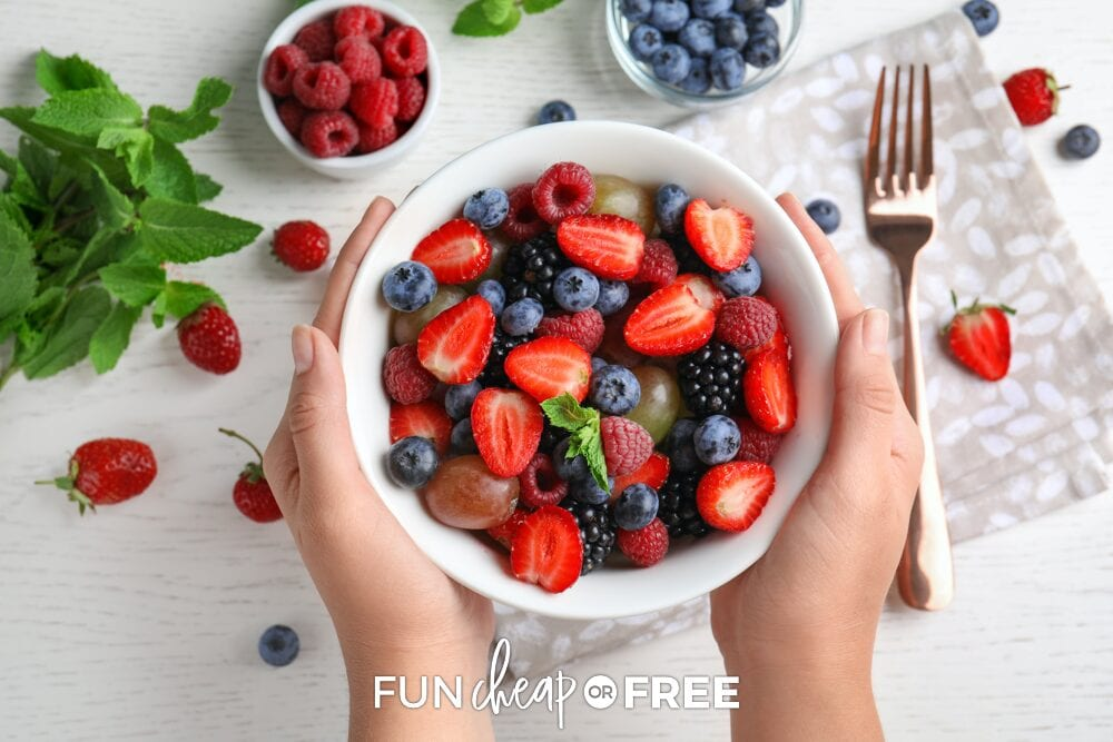 bowl of fruit, from Fun Cheap or Free