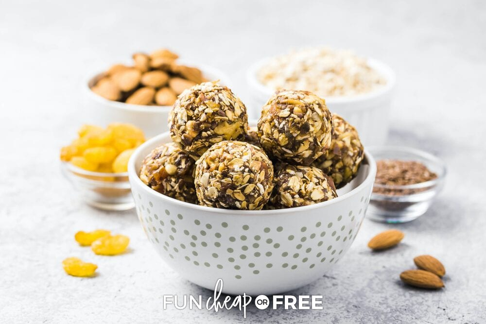 protein balls in a bowl, from Fun Cheap or Free