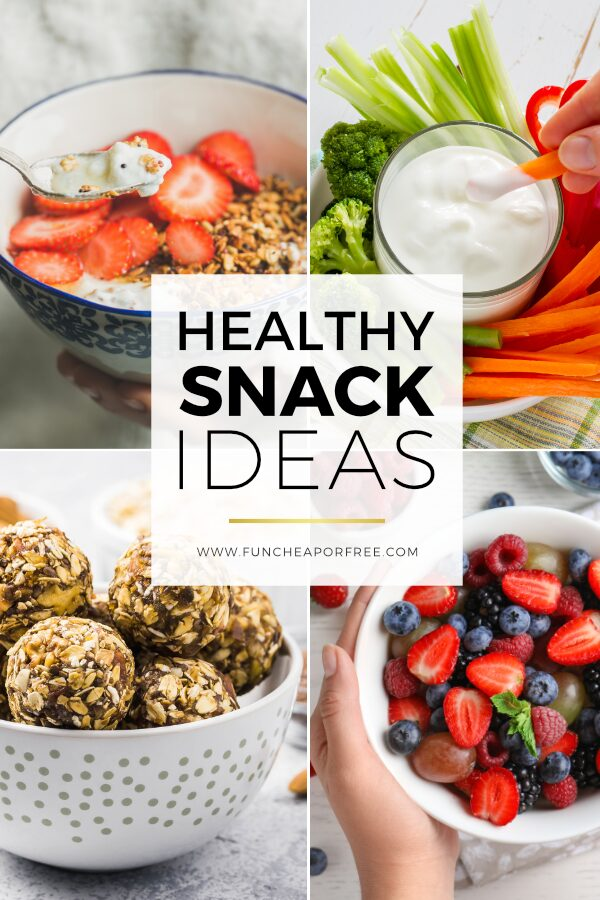 Healthy snack ideas for adults from Fun Cheap or Free