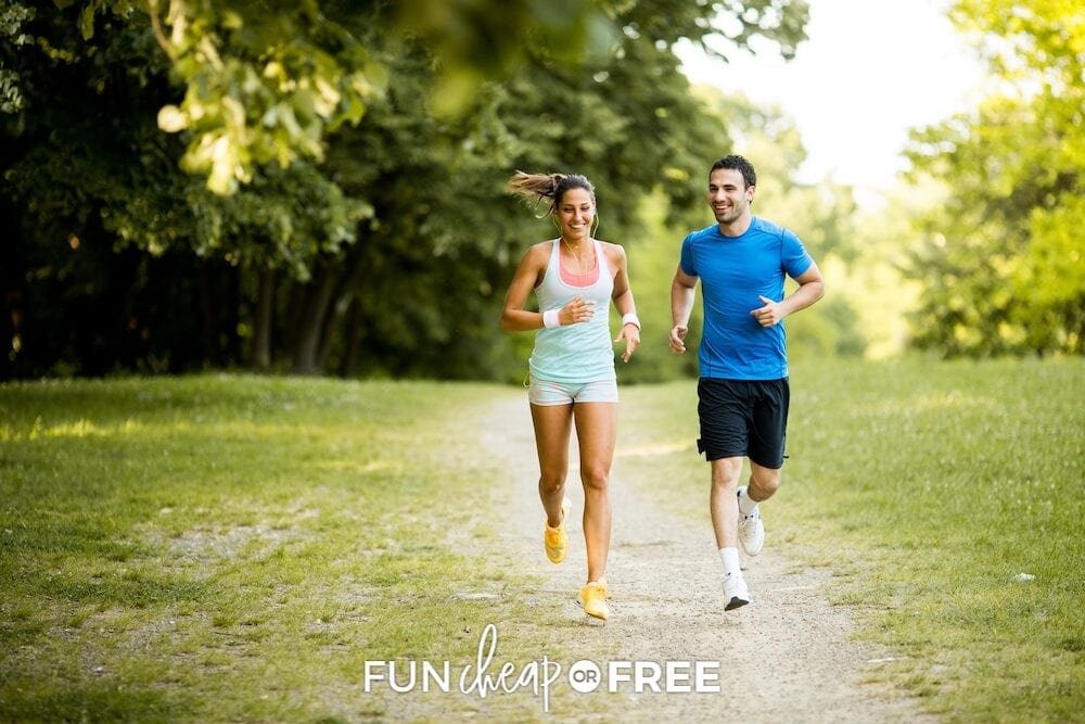 couple running together, from Fun Cheap or Free