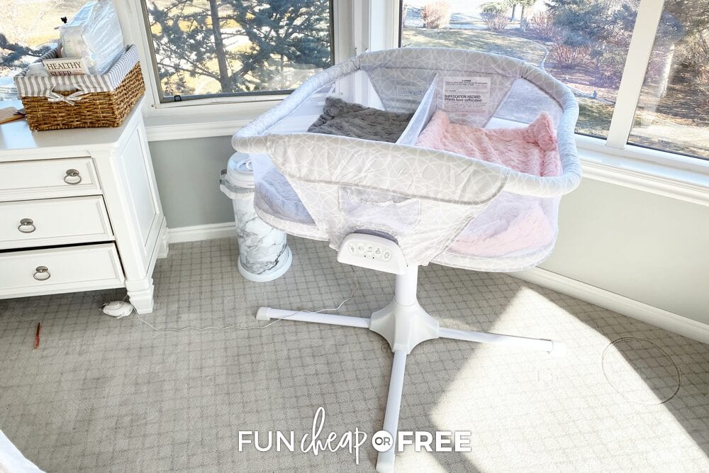 Prep anywhere that you plan on having the baby sleep in your house - Tips from Fun Cheap or Free