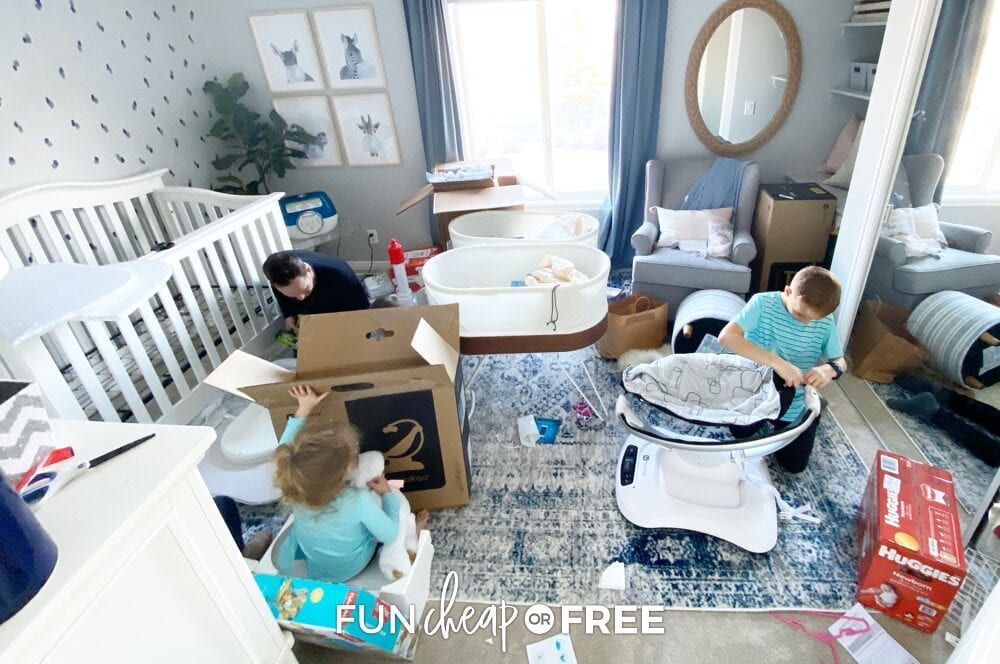Have your other kids help out in preparing for a new baby - Tips from Fun Cheap or Free