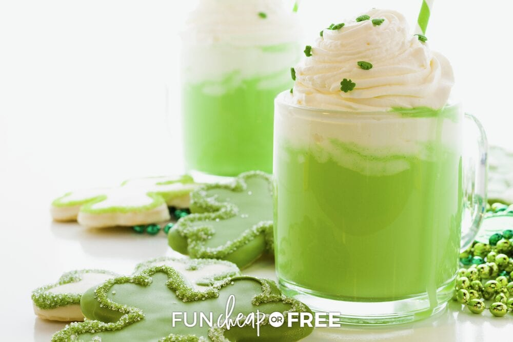 Green St. Patrick's drink in a mug, from Fun Cheap or Free