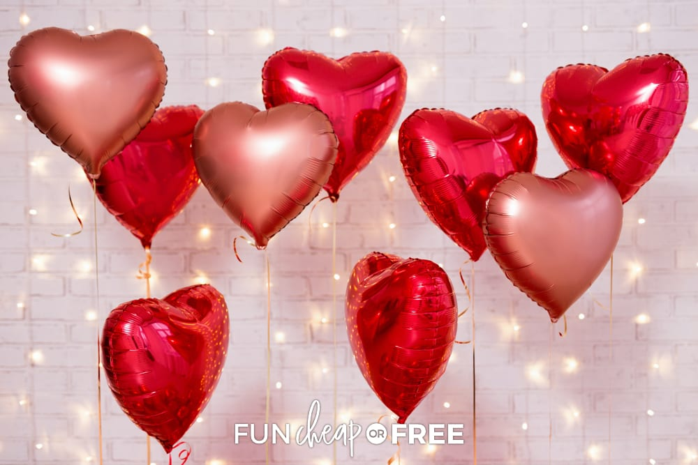 Get decorations from the Dollar Tree to help keep your costs down! Valentine's Day party ideas from Fun Cheap or Free
