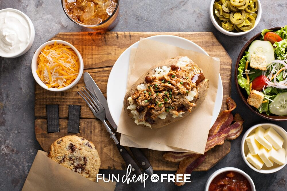 Baked potato bar toppings from Fun Cheap or Free