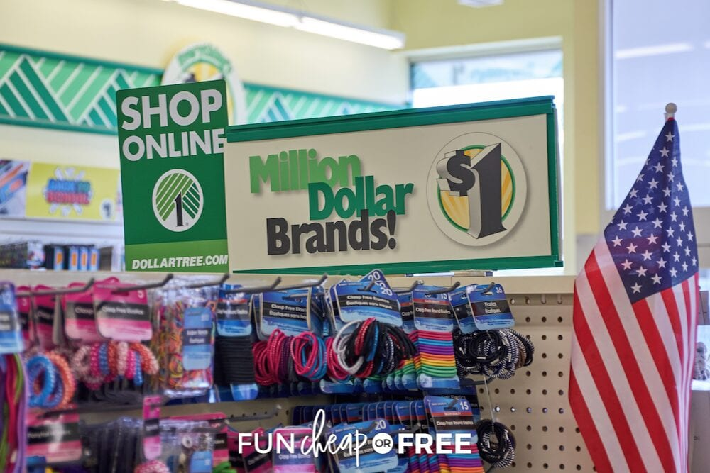 hair products at a dollar store, from Fun Cheap or Free