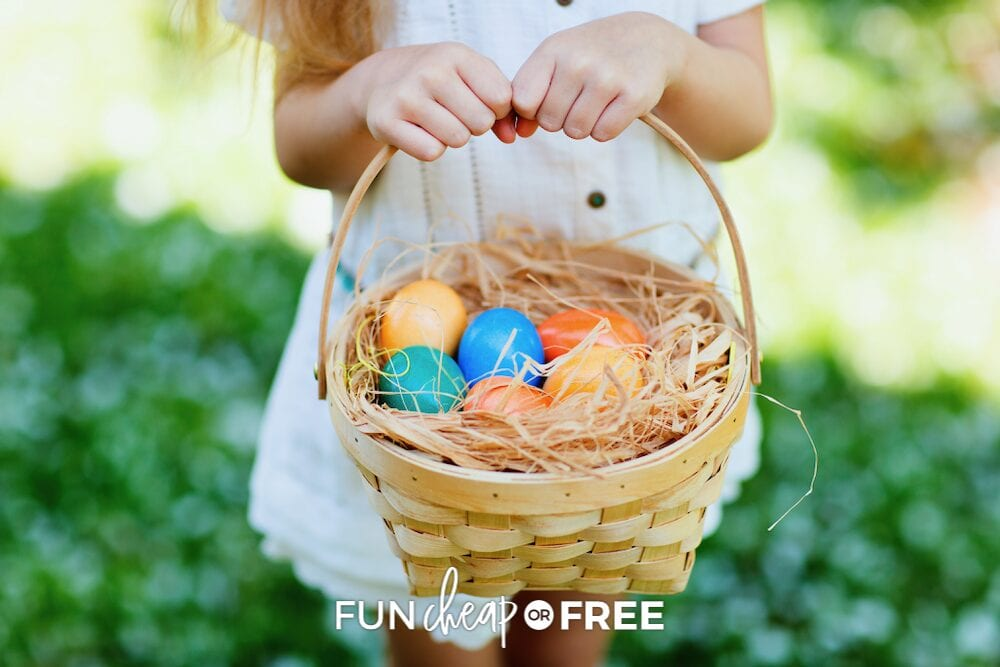 little girl holding Easter basket, from Fun Cheap or Free