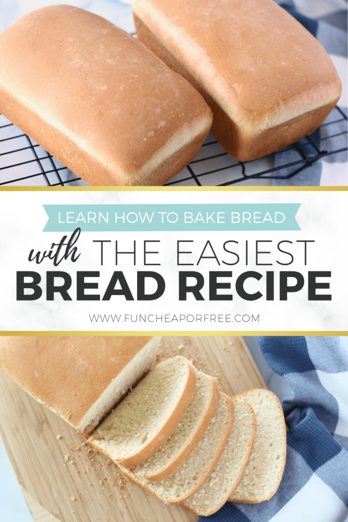 How to bake bread with the EASIEST bread recipe out there. You'll love this one and you'll be a hero when the smell of baking bread starts magically wafting through the house! Fun Cheap or Free