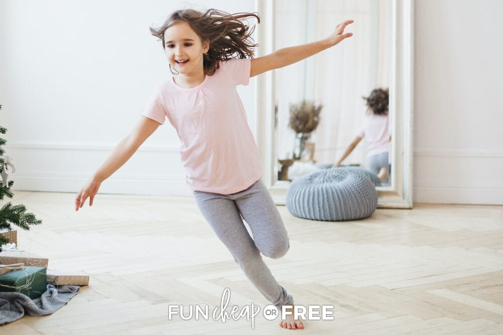 These fun movement activities for kids are sure to help get the wiggles out when you can't go outside - Ideas from Fun Cheap or Free