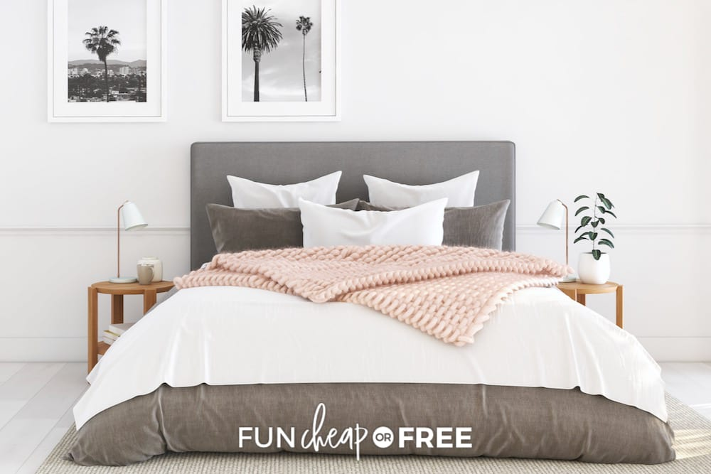 Freshly made bed, from Fun Cheap or Free