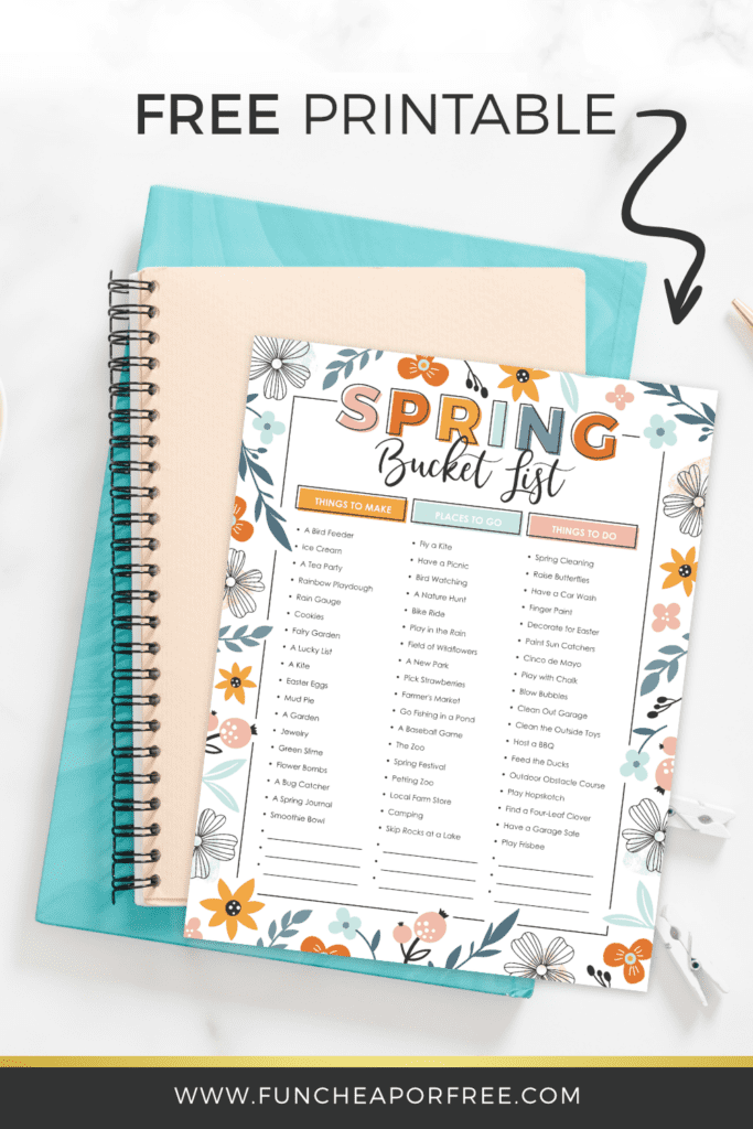 Make this Spring extra sweet with this Spring bucket list printable from Fun Cheap or Free!