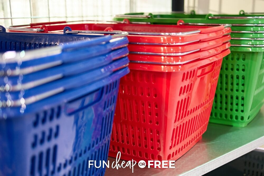 shopping baskets, from Fun Cheap or Free