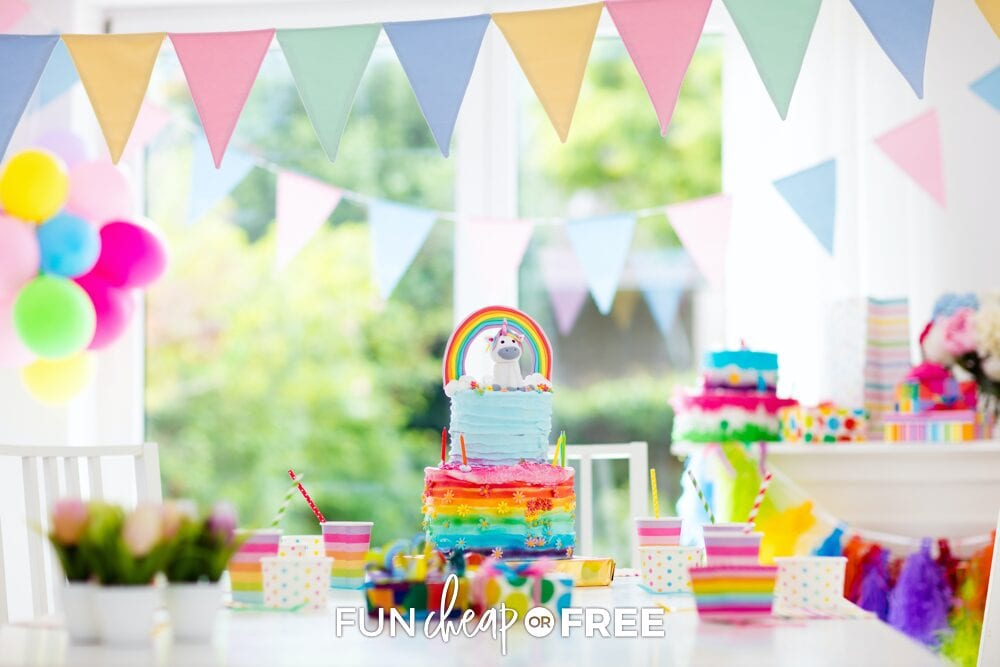 birthday party decorations, from Fun Cheap or Free