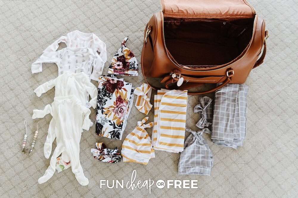 What to pack in hospital bag for baby from Fun Cheap or Free