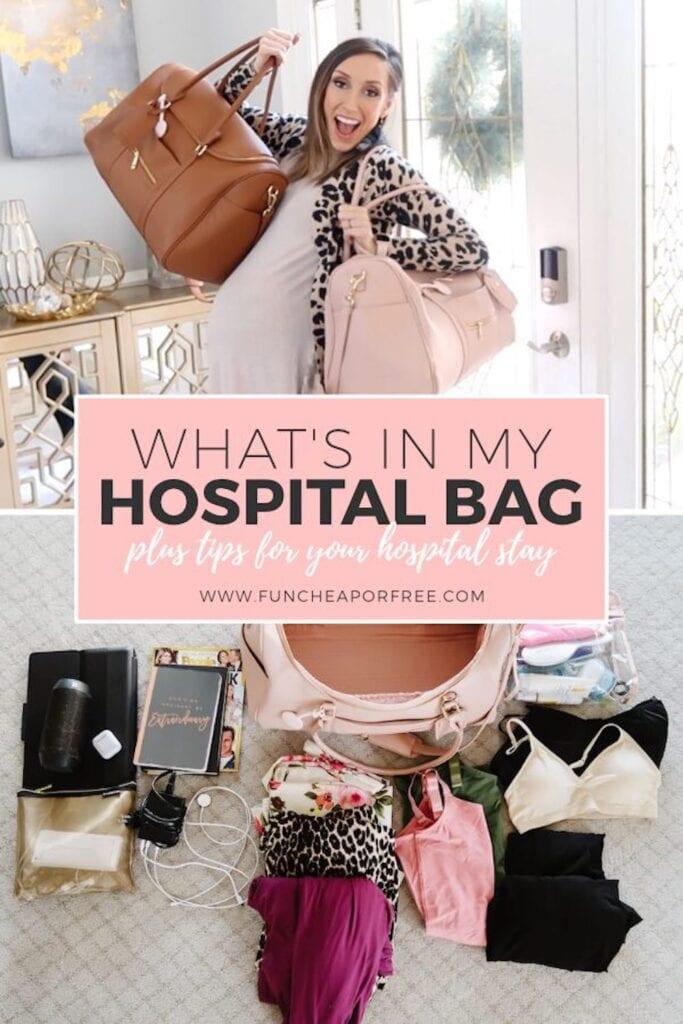 Hospital bag supplies, from Fun Cheap or Free