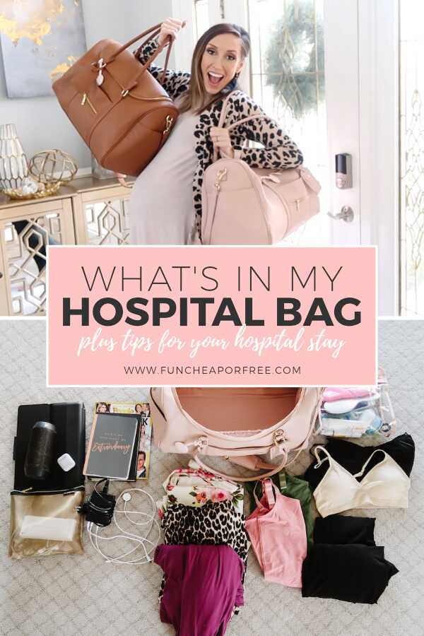 I'm sharing everything in my hospital bag, plus tons of tips for your hospital stay! Fun Cheap or Free