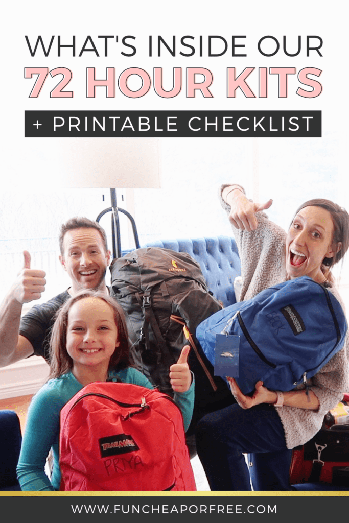 Check out what's inside our 72 hour kits, plus grab a printable checklist to help you start making your own! It's never too early to start prepping! Fun Cheap or Free