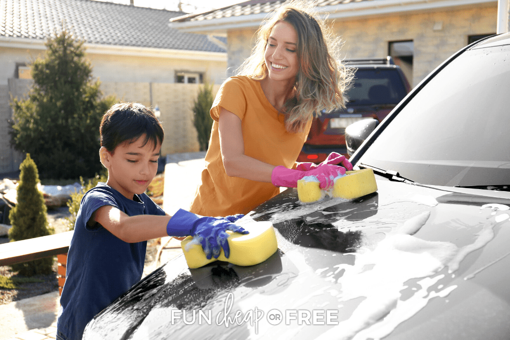 Learn how to wash your car at home and SAVE BIG on those fancy car washes with Fun Cheap or Free!