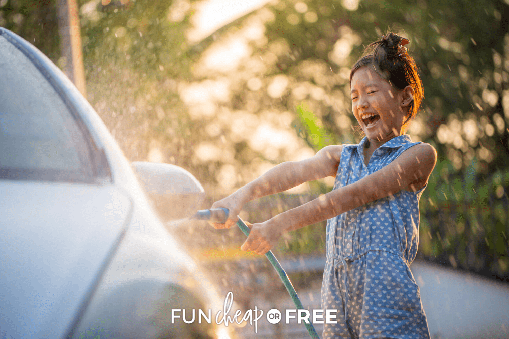 Learn how to wash your car at home and save money. It's so easy, your kids can do it, too, with Fun Cheap or Free!