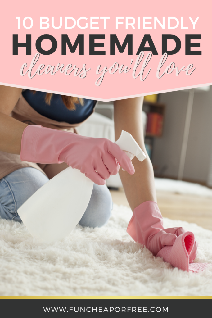 Clean and budget friendly homemade cleaners you'll love! Feel good about your cleaners. Fun Cheap or Free