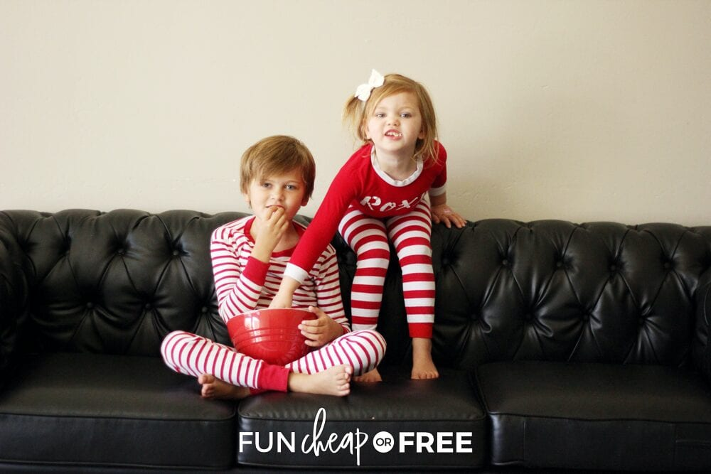 Kids having a movie night, from Fun Cheap or Free