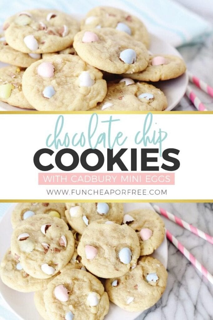 Chocolate Chip Cookies with Cadbury Mini Eggs from Fun Cheap or Free