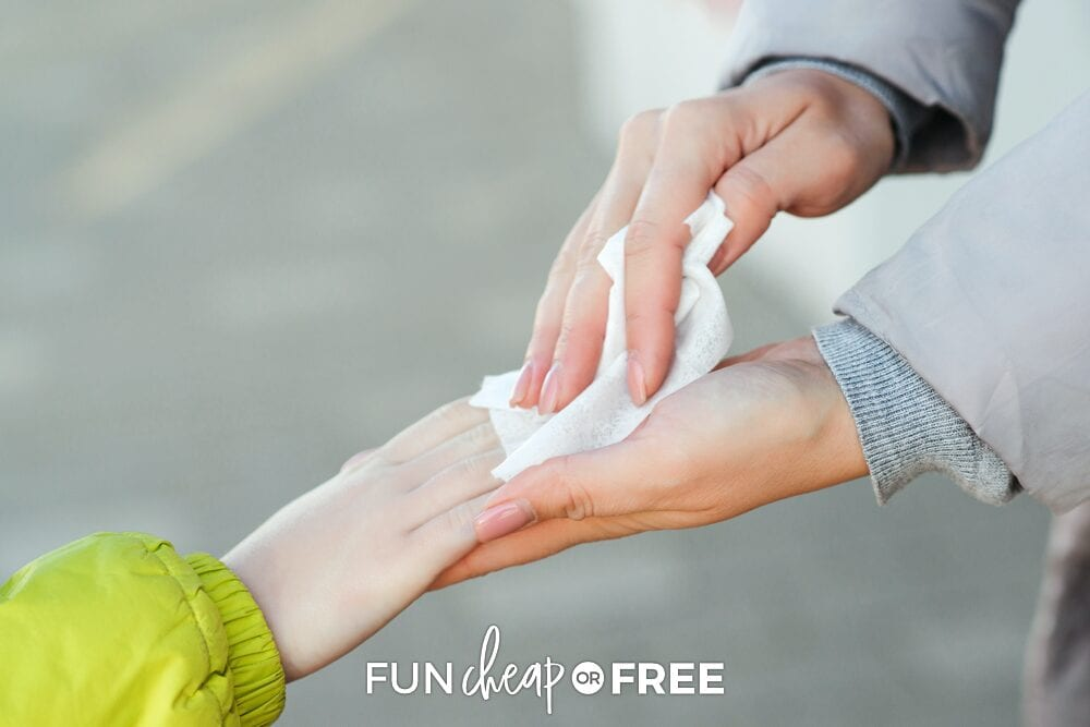"""This homemade baby wipes """"recipe"""" from Fun Cheap or Free is so easy to make and you likely have all the items needed already!"""