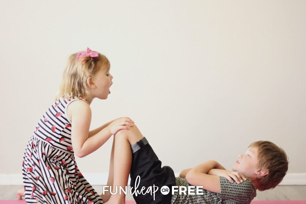 Work out as a family. This teaches your kids that exercise is fun and important! Ideas from Fun Cheap or Free