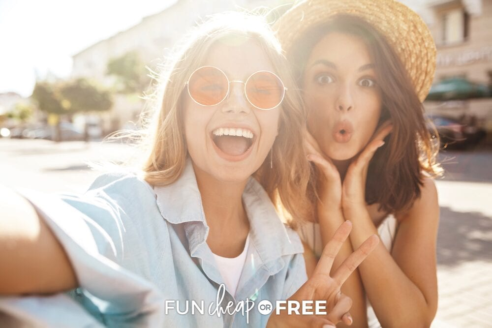 Friends hanging out together, from Fun Cheap or Free