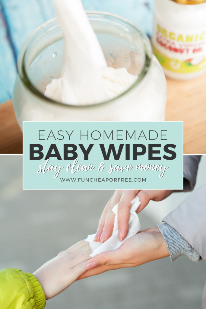 Learn how to make homemade baby wipes from Fun Cheap or Free and save some money!