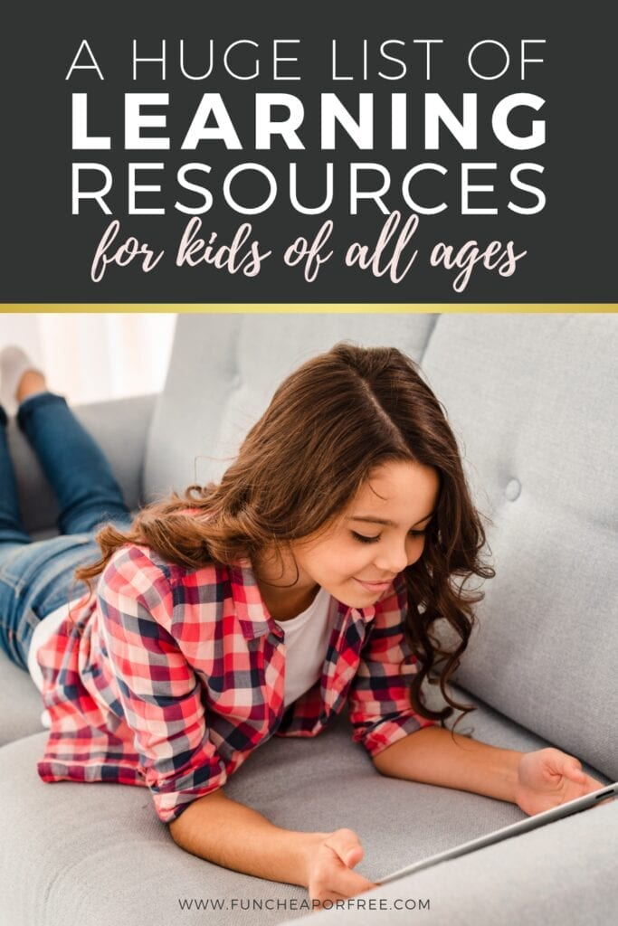 Fun and FREE learning resources for kids! You no longer have to keep track off all the links—we put them all in one place! Fun Cheap or Free