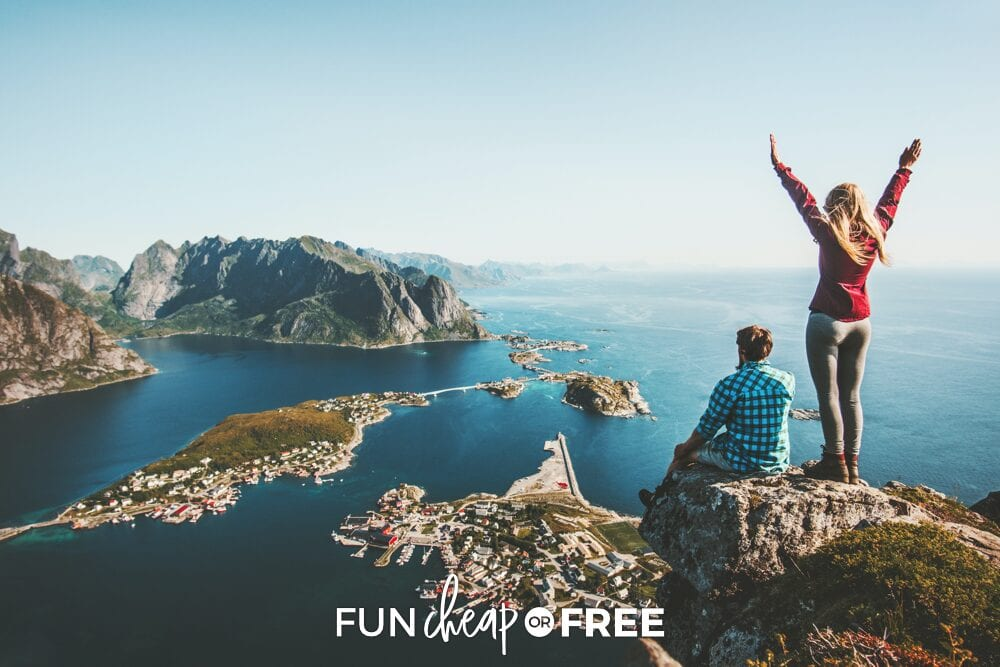 Couple on a mountain, from Fun Cheap or Free