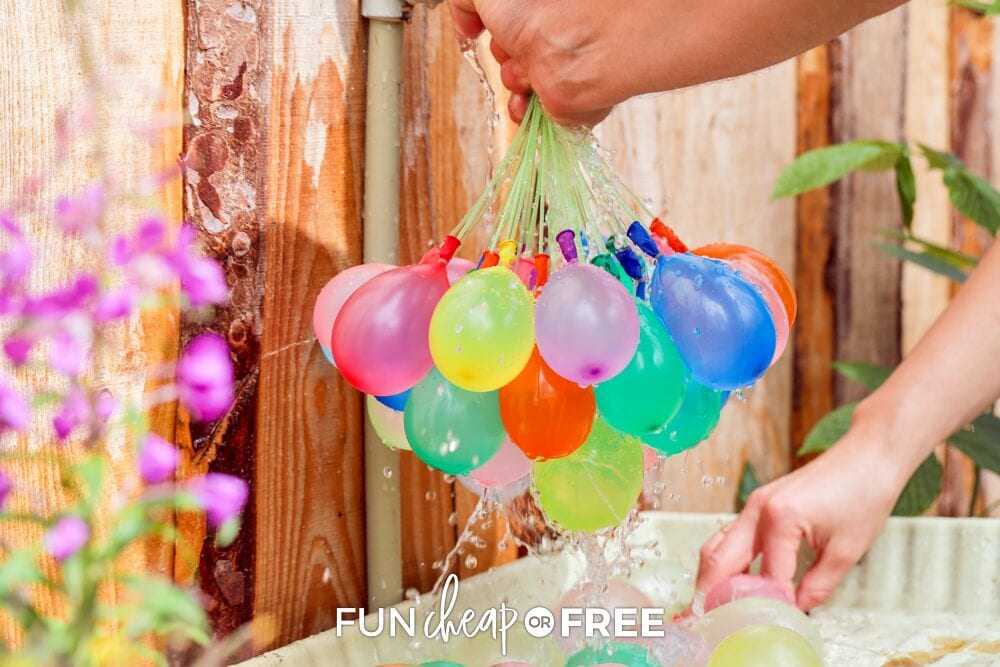 water balloon for outdoor party game on a warm summer day, from Fun Cheap or Free