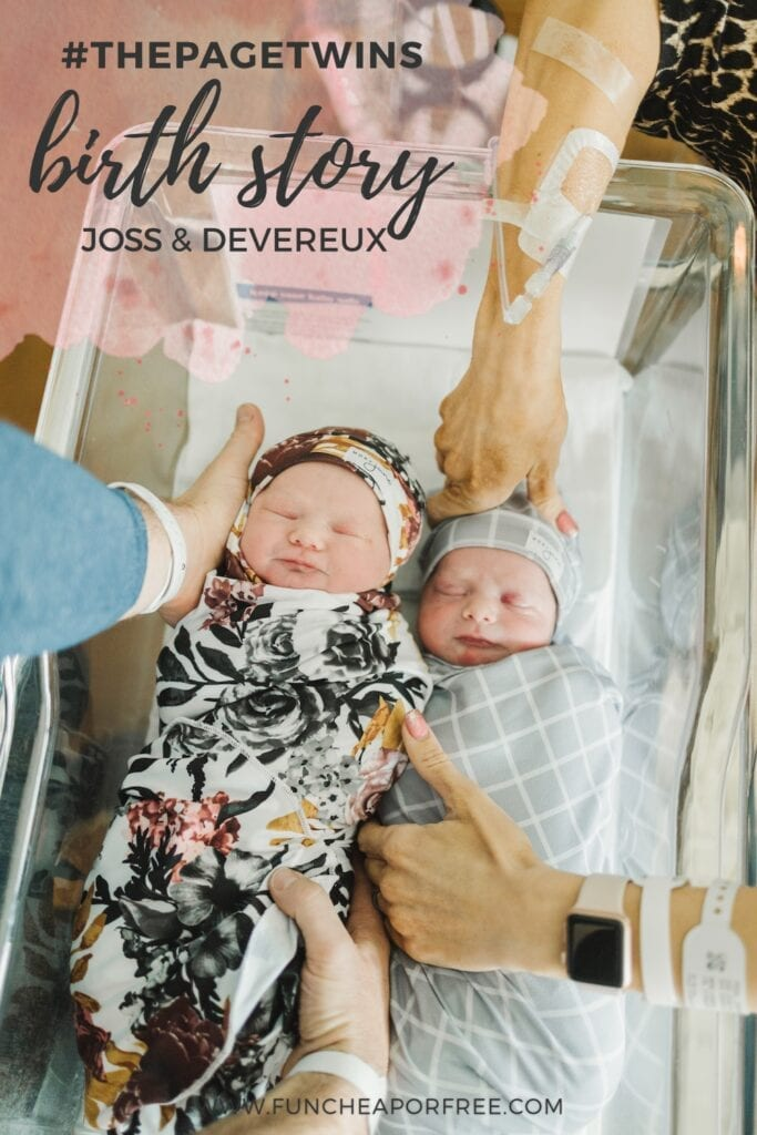 #ThePageTwins Birth Story - Welcome Joss and Devereux