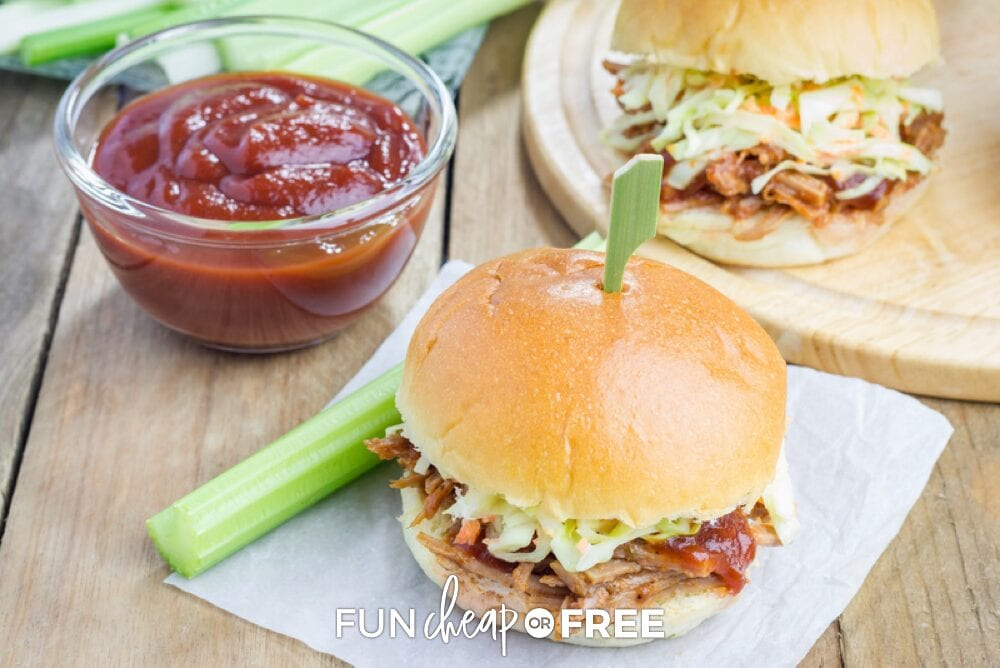 The Slow Cooker Recipes Ebook from Fun Cheap or Free has some great sandwich and wrap recipes!