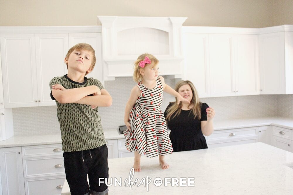 Kitchen dance parties are some of our favorite daily activities to do as a family! Ideas from Fun Cheap or Free