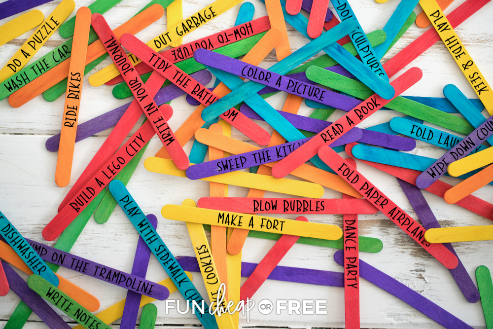 Learn how to make bored sticks to cure those bored kid blues from Fun Cheap to Free!