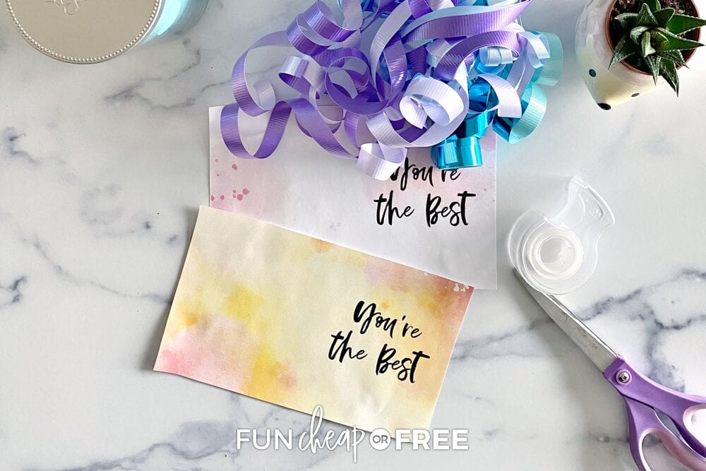 Free printable gift for friends cards, from Fun Cheap or Free