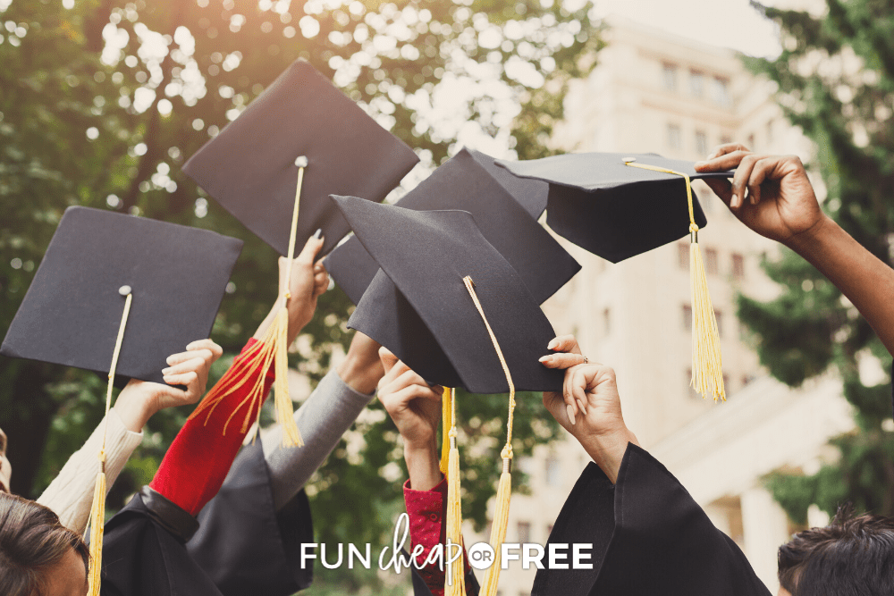 Use these fun graduation party ideas to help you celebrate in style AND stay on budget with Fun Cheap or Free!