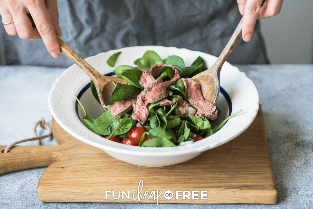 Make your steak salad your own by using what you have on hand with these tips from Fun Cheap or Free!