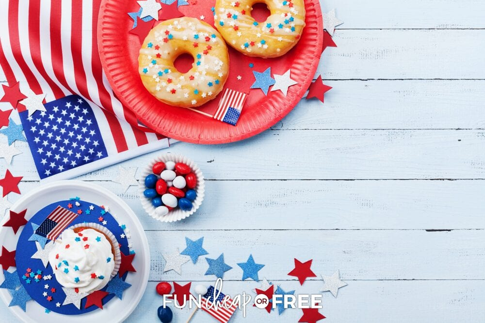 4th of July donuts and cupcakes, from Fun Cheap or Free