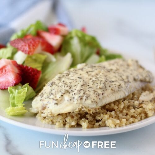 Baked tilapia recipe from Fun Cheap or Free