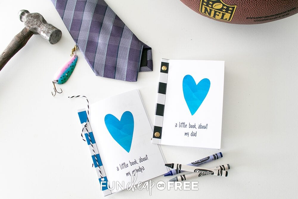 Father's Day DIY Interview Book gift, from Fun Cheap or Free