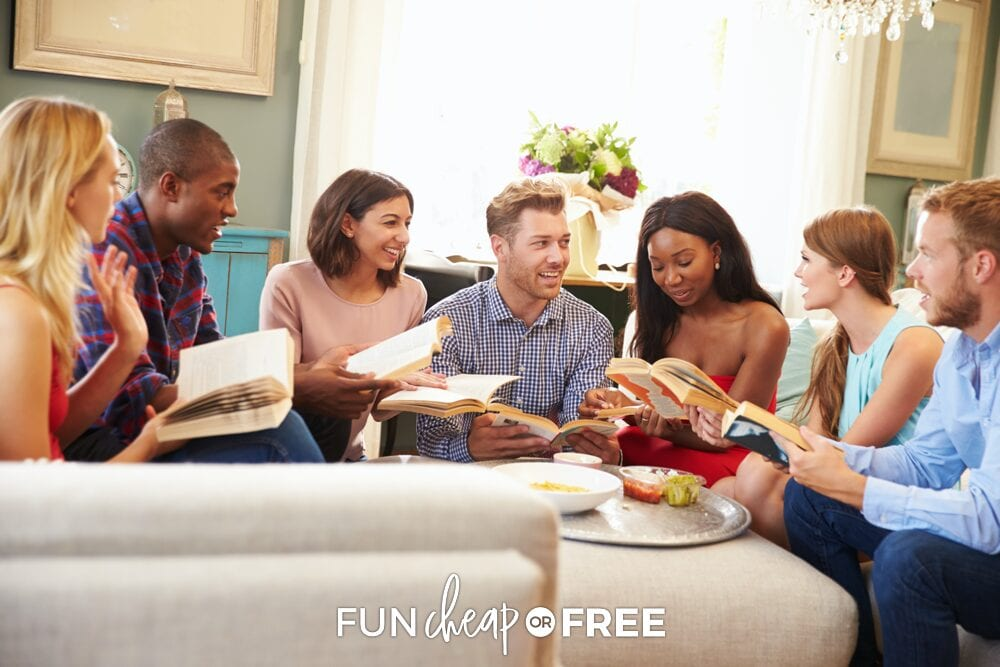 Book club is always a fun way to get together with your friends! Party ideas from Fun Cheap or Free