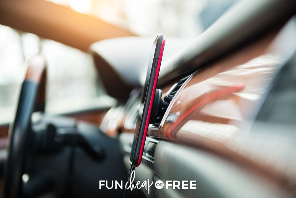 Car vent phone holder, from Fun Cheap or Free