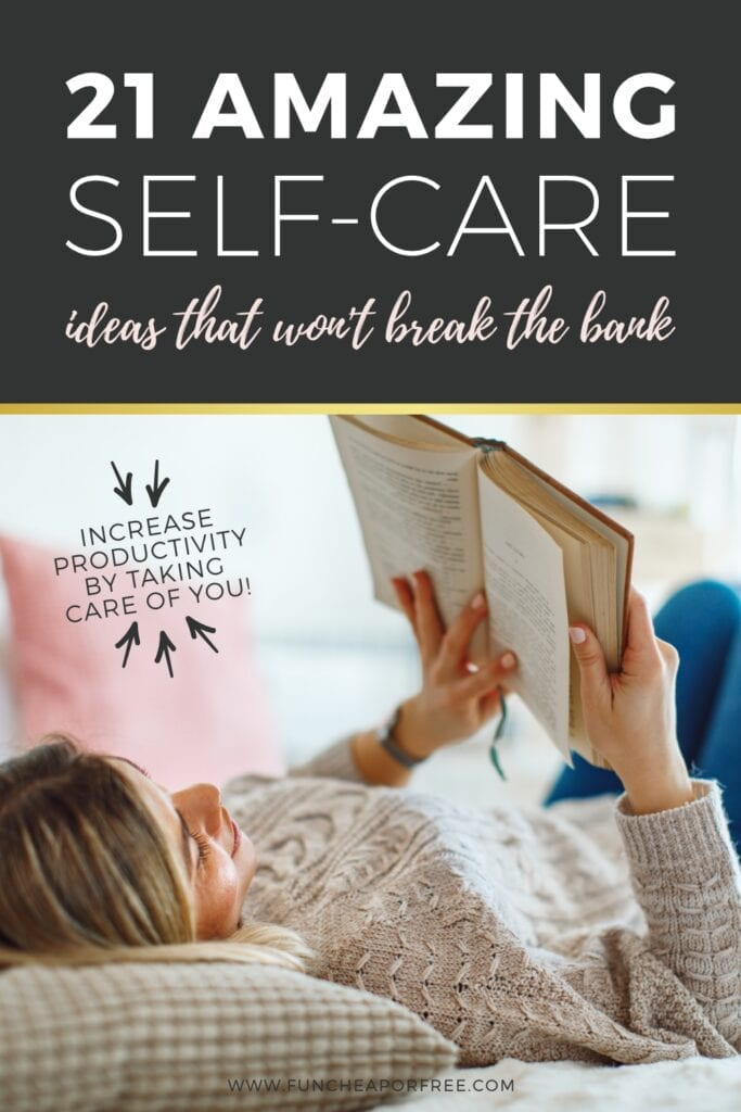 Increase your productivity by taking a little me time! Tips from Fun Cheap or Free