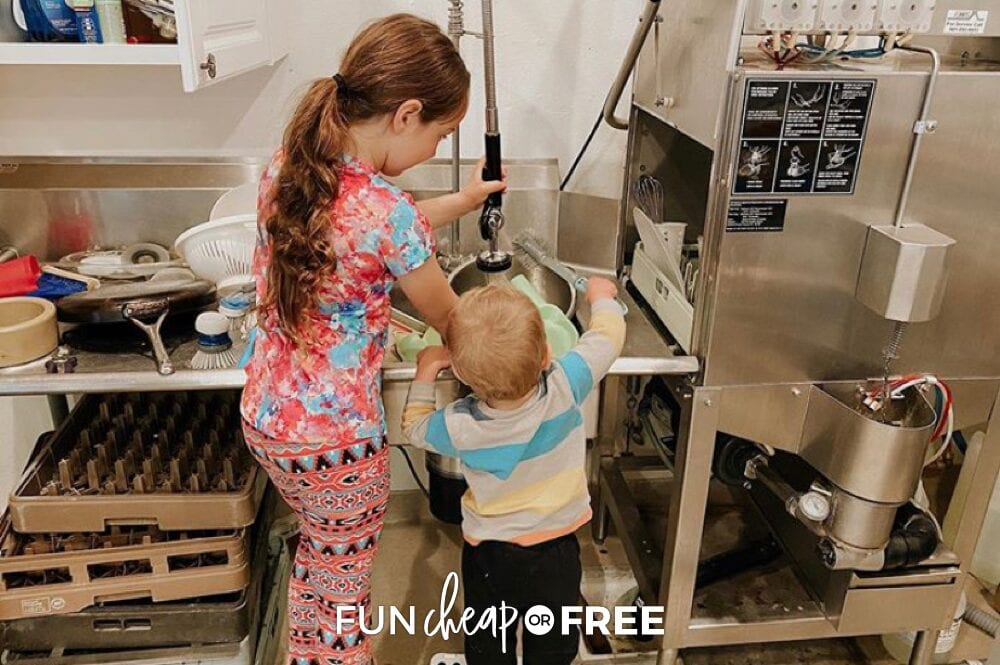 Make the cleaning zones method work for your family! Choose whatever areas of the house need the most work and assign those to your kids weekly - Tips from Fun Cheap or Free